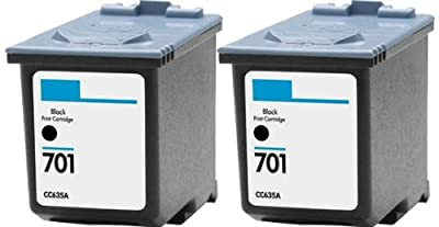 HouseOfToners Remanufactured Ink Cartridge Replacement for HP HP-2-701 ( Black , 2-Pack )