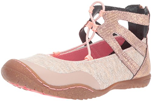 JambuKD Girls' Pythera Outdoor Gladiator Mary Jane Flat, Light Pink, 10 M US Toddler (Outdoor Light Fishermans)