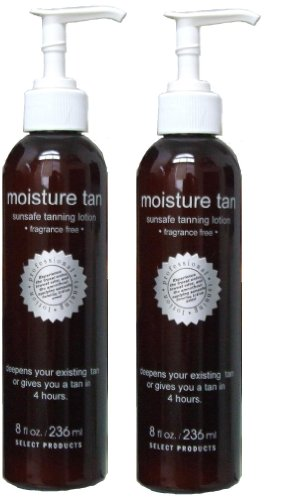 Moisture Tan Professional Self Tanner 8oz 2 Pack – Voted 1 Self Tanner – Free Priority Mail Shipping