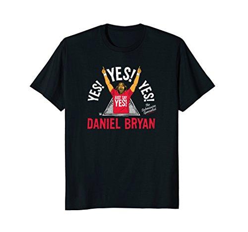 Mens WWE Yes Triangle Illustration Daniel Bryan Large Black