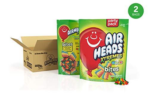 Airheads Xtremes Bites, Rainbow Berry, 30.4 oz Stand Up Bag (Pack of 2) -