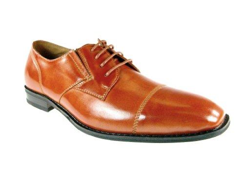 Ferro Aldo Men's 19283 Classic Cap Toe Dress Oxfords, Brown, 7.5