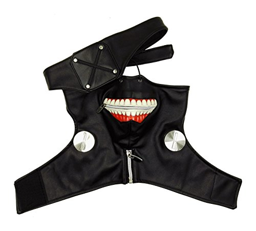 ANOTHERME Sale Tokyo Ghoul Ken Kaneki Season 1 Black Zipper Mask Party Cosplay Accessories -