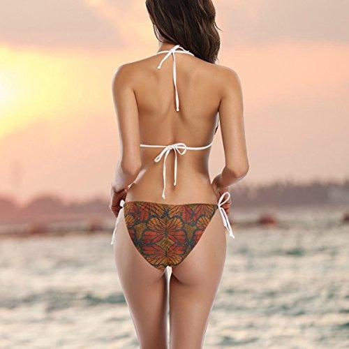 Kühle Badeanzug Schmetterlings-muster-bikini-badeanzug-tie Bikini-badebekleidung Side Gepolsterte Mehrfarbig Coosun Stücke Zwei