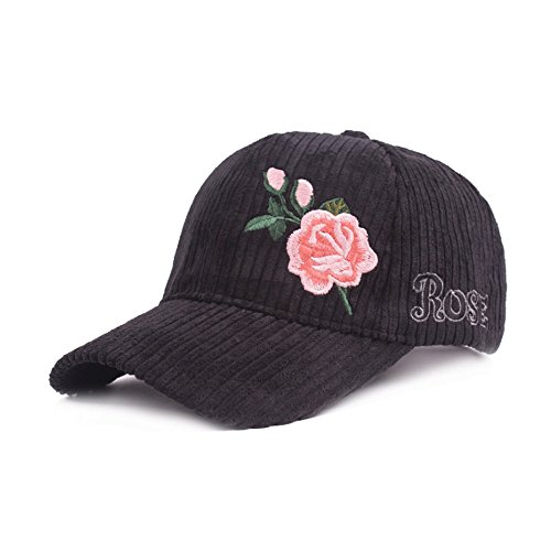 FGSS Unisex Rose Embroidered Adjustable Strapback Dad Hat Baseball Cap Mutiple Colors