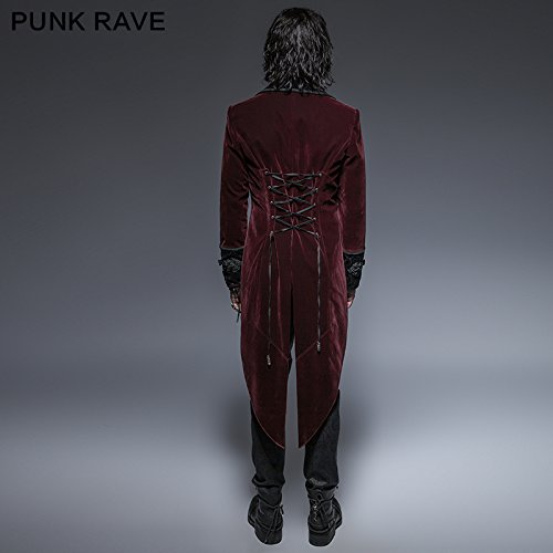 Steampunk Coat Gothic Clothing Swallow Tail Clothes Punk Winter Jacket Renaissance Costume by PunkRave (Image #4)