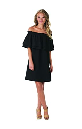 Mud Pie Womens Pippa Off The Shoulder Summer Dress Black At Amazon