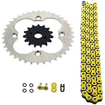 1999-2004 Fits Honda 400EX TRX400EX Red Non O-Ring Chain /& Black Sprockets 15//36 94L