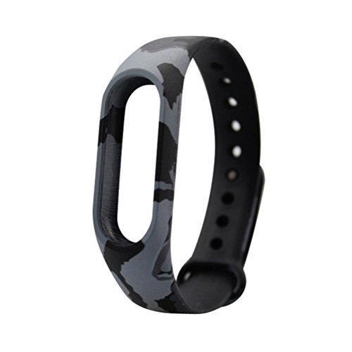 Price comparison product image Alonea Replacement Wristband Band Strap + Metal Case Cover For Xiaomi Mi Band 2 Bracelet (Y)