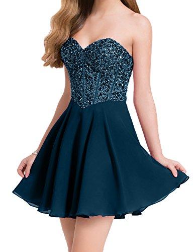 Festlichkleider Damen Abendkleider Linie mia Kleider Cocktailkleider Dunkel Braut Blau 2018 A Perlen La Attraktive Neu Promkleider gpFUgzqn