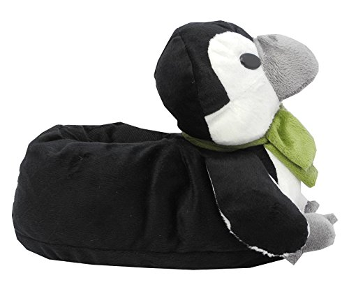 Boys Girls Ladies Novelty Fur Penguin Animal Slippers Adult GREEN Size 7/8 EU40/41 IgkAc9b