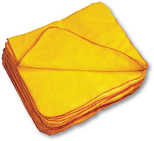 Flannel Dust Cloth - 12 Pcs 100% Cotton Large Yellow Duster Size : 24