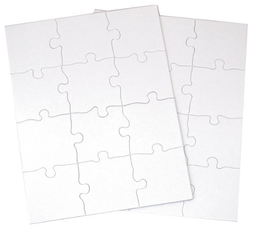 Inovart Puzzle-It 12-Piece Blank Puzzle, 12 Puzzles Per Package, 8-1/2