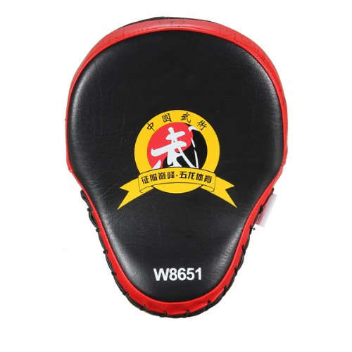 1x MMA Boxing Kick Punch Pad Karate Muay Target Focus Arts Training Mitt Glove (Red) Meco