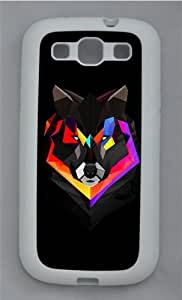 Techno Wolf TPU Silicone Rubber Case Cover for Samsung Galaxy S3 SIII I9300 White