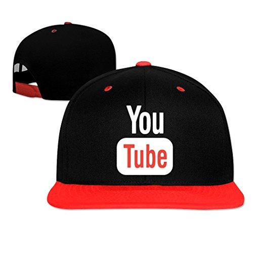 Misshu Latest Design Youtube Logo Red men's Hit Hop Cap