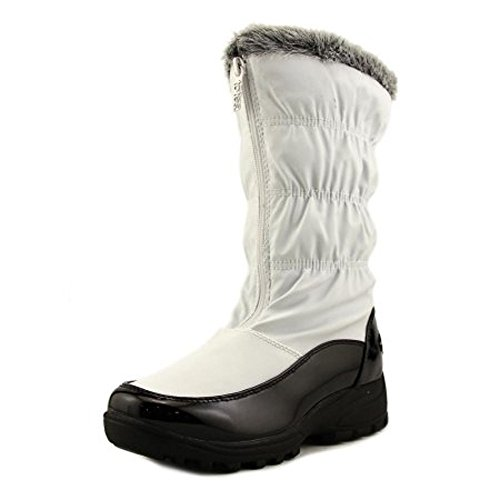 totes New Womens Rogan Rain Boots White Size 8 M Canvas Round Toe (Totes Womens Winter Boots Size 8)