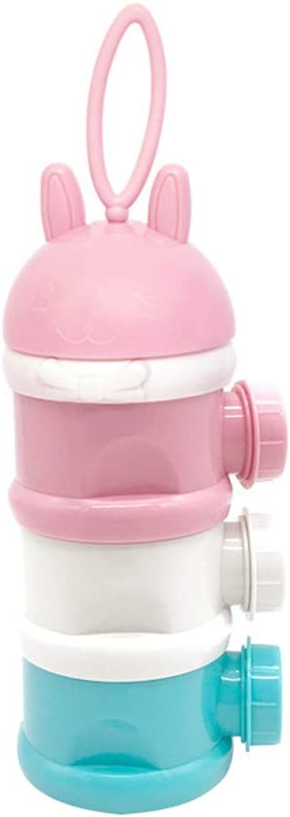 SM SunniMix Baby Formula Dispenser Stackable Travel BPA Free Milk Powder Dispenser /& Snack Storage Container 3 Layers No Leakage as described Pink
