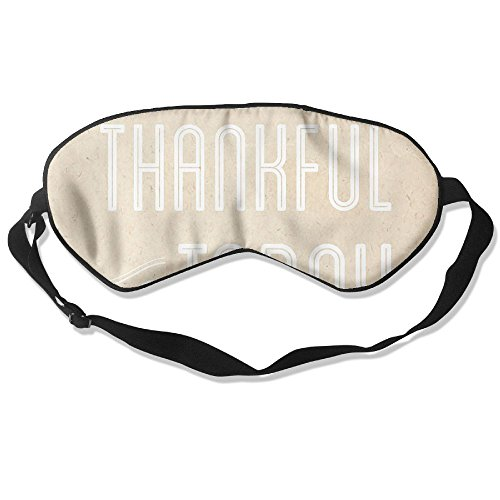 WUGOU Sleep Eye Mask Thankful For Today Lightweight Soft Blindfold Adjustable Head Strap Eyeshade Travel Eyepatch -