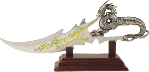 BladesUSA PK-2235 Fantasy Dragon Knife Display 7.5-Inch Overall, Outdoor Stuffs
