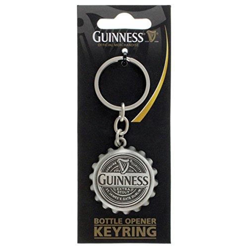 (Guinness Cap Bottle Opener Keyring)