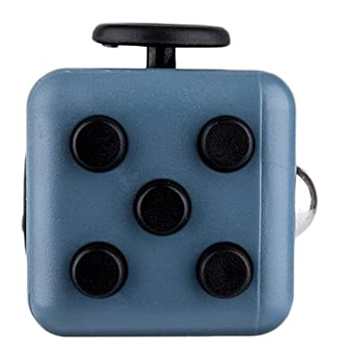 Omaky Fidget Cube Relieves Stress and Anxiety for Children and Adults Attention Toy, Blue Black from Omaky