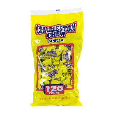 Charelston Chew Small Bars Candy, 120 count, 1.83 lbs - Pack of 6 by Charleston Chew Vanilla Bulk (120 Ct)