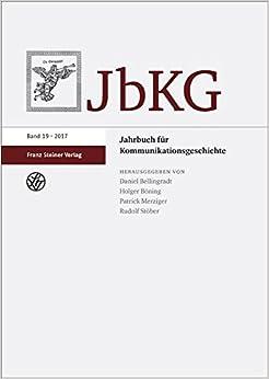 Book Jahrbuch für Kommunikationsgeschichte 19 (2017)