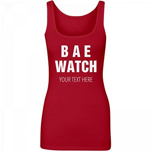 Bae Watch Spring Break  Junior Fit Longer Length Tank Top