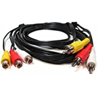 SF Cable, 100ft 3 RCA Male to 3 RCA Female Audio Video Extension Cable Gold Plated