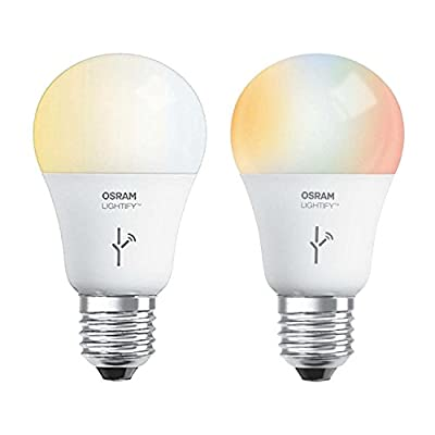 Sylvania Lightify 60W A19 Tunable Smart LED Light Bulb + White/Daylight/RGB Bulb