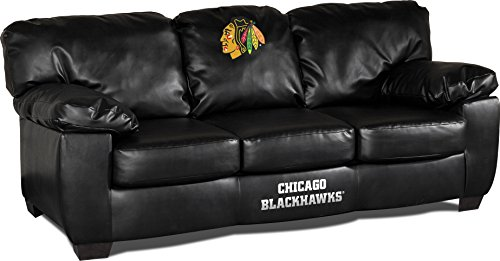 - Imperial Officially Licensed NHL Furniture: Classic Leather Sofa/Couch, Chicago Blackhawks