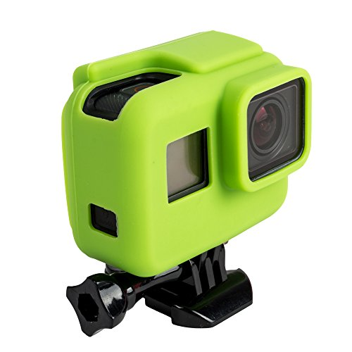 Elobeth Standard Protective Dive Housing Case Silicone Cover Soft Case for GoPro 5 Black Outside Sport Camera GoPro Hero 5 Black(Green)