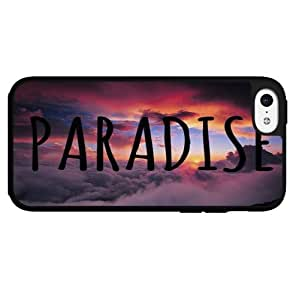 Colorful Beach with Pink Sunset and Paradise Written in the Sky Hard Snap on Phone Case (iPhone 5c)