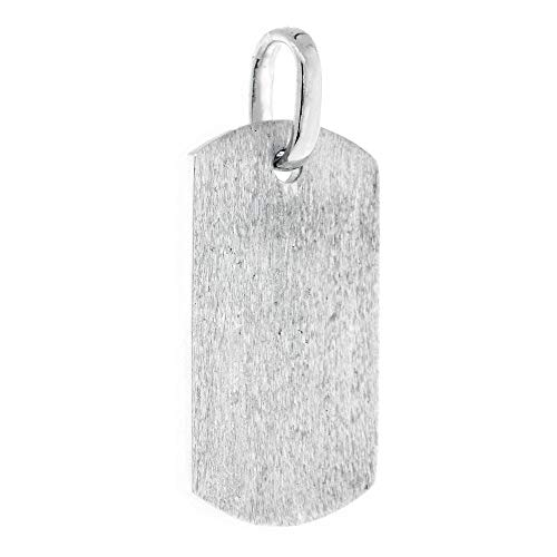 36mm Hardcore Metal Snake Skin Cross Pendant Dog Tag in Sterling Silver by Sziro Christian Jewelry (Image #2)