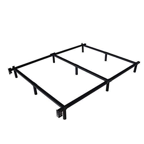 Swascana STT Heavy Duty Easy Assemble Steel Bed Frame Box Spring and Mattress Foundation