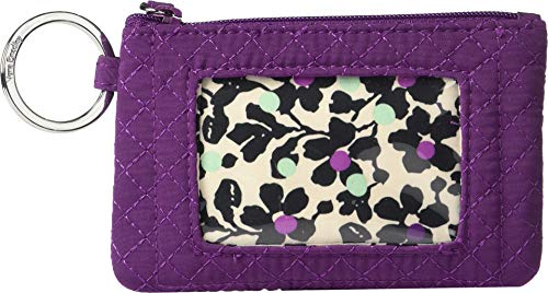 Vera Bradley Women's Iconic Zip ID Case Gloxinia Purple One Size