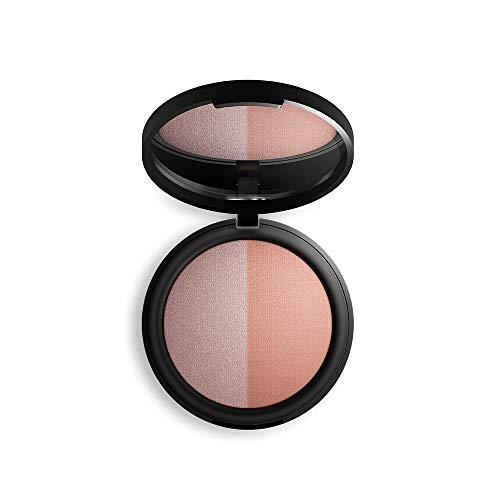 Inika Baked Mineral Blush Duo, Natural Make-Up Formula, Flawless Coverage, Brightening, Healthy Glow, Vegan 8g (0.28 oz) (Pink ()