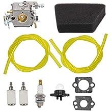 Carburetor Air Filter Carb Fuel Line Spark Plug Carb For Poulan Chainsaw 1950 2050 2150 2375 Wild Thing 2375LE Walbro WT 89 891 WT-324 Zama C1U-W8 C1U-W14 Replace# 545081885