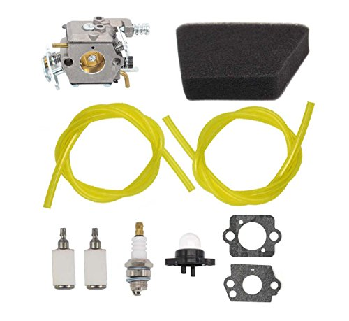 - MOTOKU Carburetor Air Filter Carb Fuel Line Spark Plug Carb for Poulan Chainsaw 1950 2050 2150 2375 Wild Thing 2375LE Walbro WT 89 891 WT-324 Zama C1U-W8 C1U-W14 Replace# 545081885