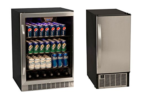 Edgestar Stainless Beverage Cooler Icemaker