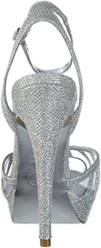 Adrianna tacco Scarpe Net donna argento con Papell Jimmy wISSqF