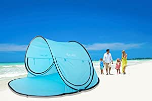 Automatic Pop Up Instant Portable Outdoors Beach Tent XXL Lightweight Portable Family Sun Shelter Cabana By E-Joy