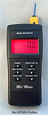 Mel-8704-ProNavigator Paranormal 3 in 1 Instrument with EMF Meter - Ambient Thermometer - Flashlight !