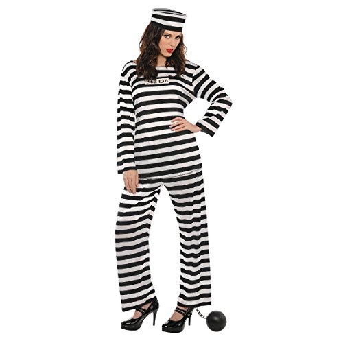 AMSCAN Lady Lawless Prisoner Halloween Costume for Women, Standard, with Included Accessories ()