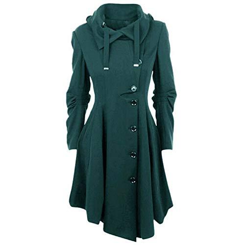White Island Spring Autumn Coat Women Fashion Long Sleeve Asymmetric Length Coat Women Outwear Plus Size,Green,4XL