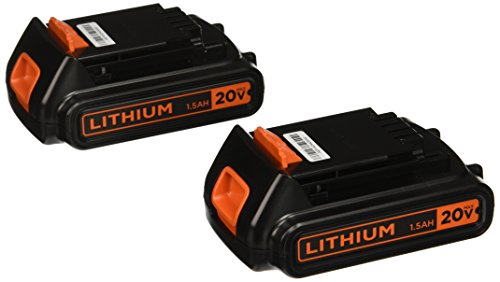 (BLACK+DECKER 20V MAX Lithium Battery 1.3 Amp Hour, 2-Pack (LBXR20B-2))