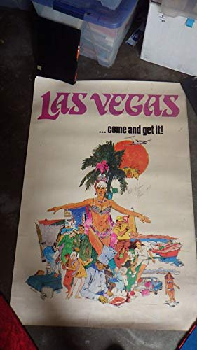Elvis Presley SIGNED Promotional Poster in Las Vegas in Color