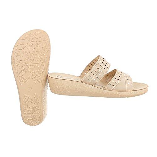 3b21cc65bfa315 Günstig Kaufen Damen Schuhe Sandaletten Pantoletten Beige 40 Schuhcity24  Auslass Footlocker Bilder Online Einkaufen nI4JrJf