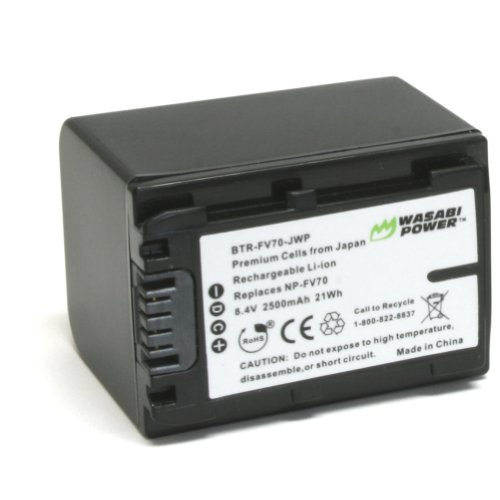 Wasabi Power Battery for Sony NP-FV70 and Sony DCR-SR15, ...